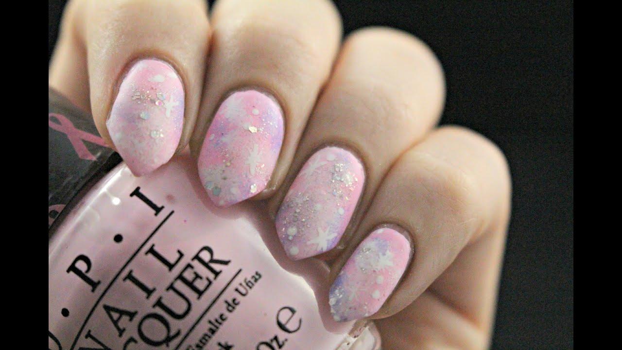 matte pastel galaxy nail tutorial