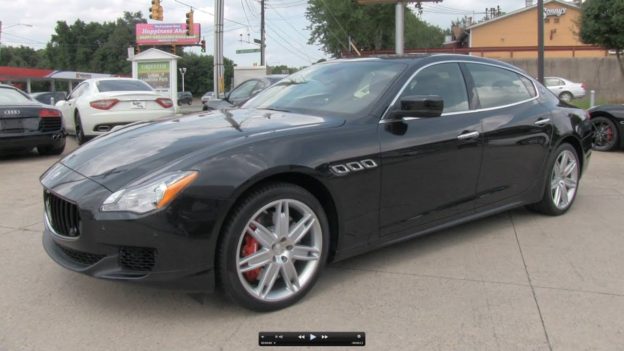 2014 maserati quattroporte gts start up exhaust and in. Black Bedroom Furniture Sets. Home Design Ideas