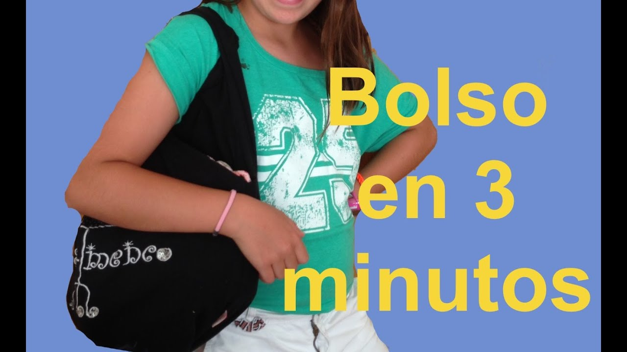 b52411c2a Cómo hacer bolso sin coser en 3 minutos | Ideas FACILES DIY - YouTube