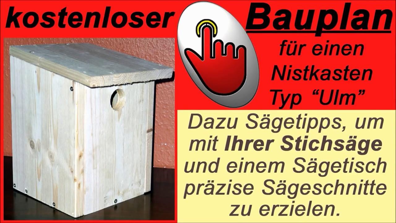 nistkasten selber bauen ein vogelhaus f r kohlmeise und gartenrotschwanz youtube. Black Bedroom Furniture Sets. Home Design Ideas