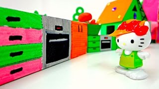 Поделки с детьми: Делаем плиту для КИТТИ