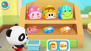 PART 1 Little Baby Pandas School Bus  Shopping &amp Costume Show  Game Preview  Baby Kids Video