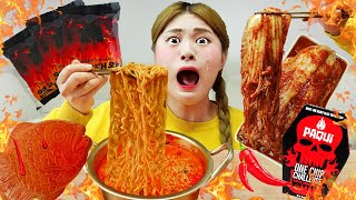 Mukbang Spicy Food Fire Noodle Challenge The Hottest Challenge In The World by HIU 하이유