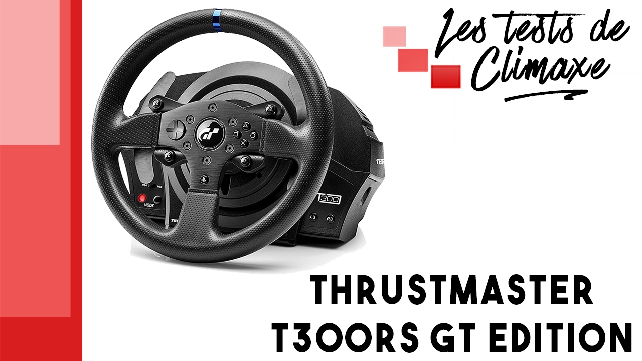 test du volant thrustmaster t300rs gt edition gran turismo edition youtube. Black Bedroom Furniture Sets. Home Design Ideas