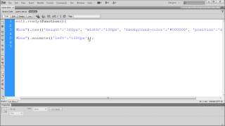 jQuery Tutorial: Using the Css and Animate Functions in jQuery -HD-
