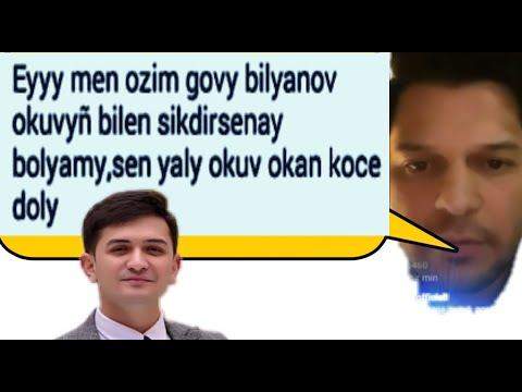 Ogurlyk aydymlar: Mekan Atayewdan paync soz, Sohbet Jumaew.Turkmen prikol instagramdan.