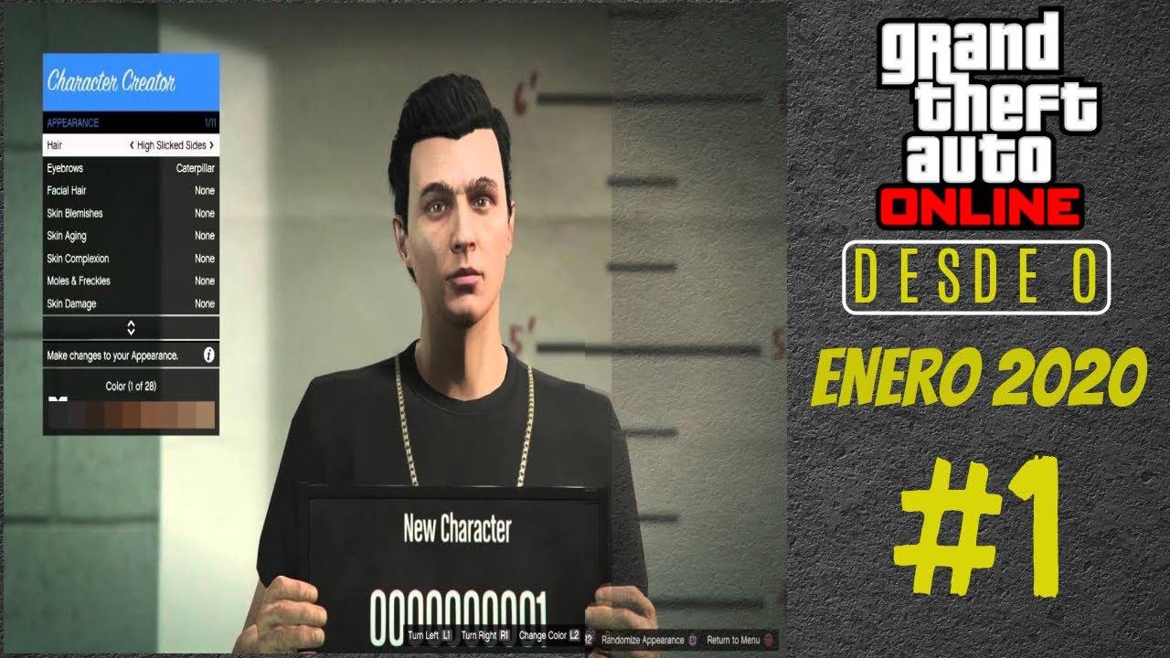COMO INICIAR EN GTA ONLINE DESDE 0 EN 2020 #1.-crea tu personaje, primeras misiones y contactos