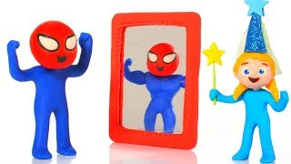 SUPERHERO BABY BECOMES A MUSCULAR MAN ❤ SUPERHERO PLAY DOH CARTOONS FOR KIDS