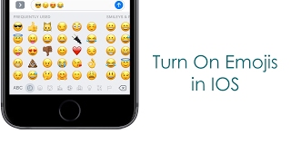 How To Turn On EMOJIs In IOS 10 Using Iphone 7 Plus Urdu/Hindi