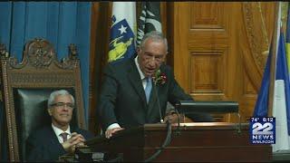 Portuguese president visits Massachusetts State House