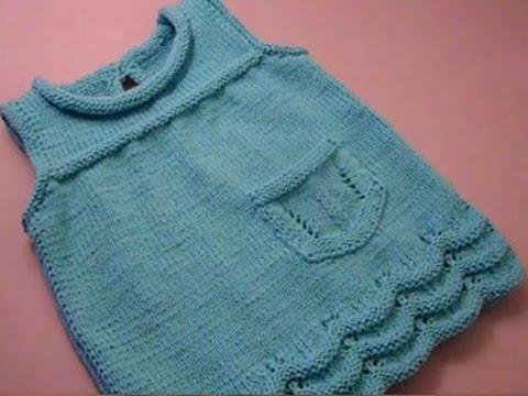 Сарафан для девочки 1 год вязаный спицами
