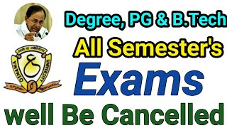 Degree, PG, B.tech Exams well be Cancelled