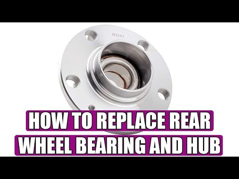 How to replace / change rear wheel bearings on VW Golf 5 Mk5