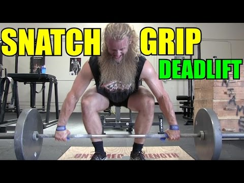 Increase Your Deadlift : How To Snatch Grip Deadlift