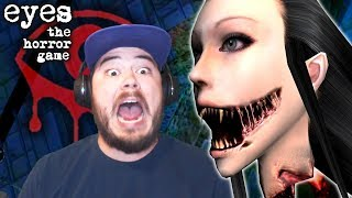 I ENTERED A HAUNTED MANSION AND FOUND AN EVIL GHOST HEAD!! | Eyes: The Horror Game