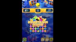 Pac-man Puzzle Tour Levels 1 - 5 Walkthrough Gameplay