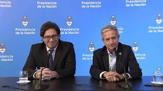 Declaraciones a la prensa de los ministros Germán Garavano y Andrés Ibarra