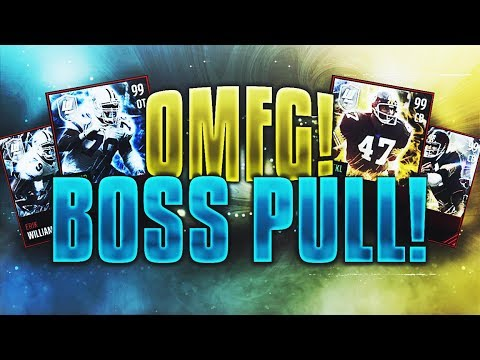 99 OVERALL BOSS LEGEND PULL! LIMITED EDITION LIVE REACTION! EA GODS BLESS UP! Madden Mobile 17