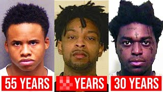 Rappers With LONGEST Prison Sentences (Tay-K, 21 Savage, Kodak Black)