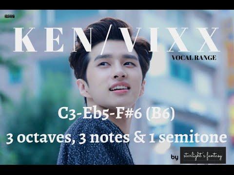 Ken (VIXX) Vocal Range C3-Eb5-F#6 (B6)