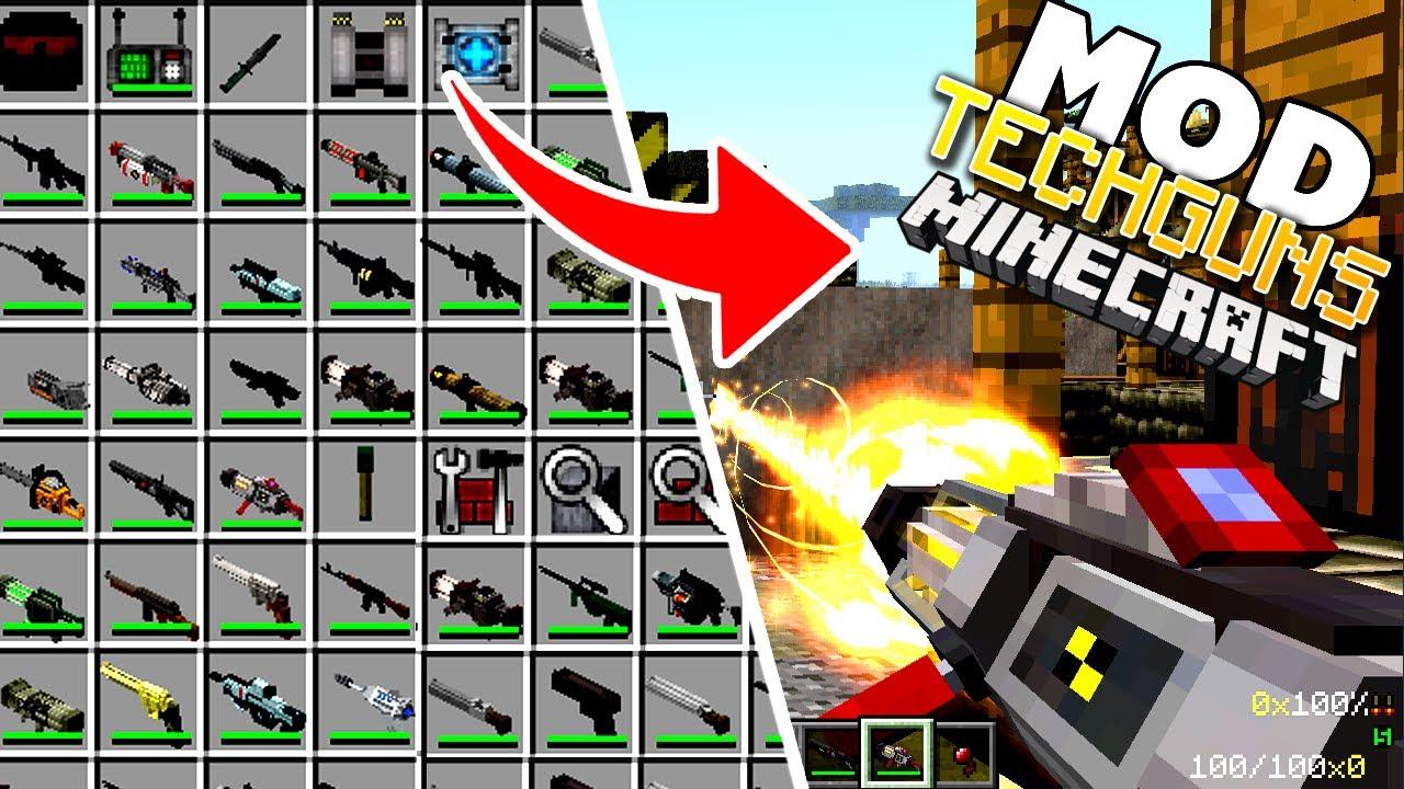 Minecraft Tech Guns Crafting Recipes