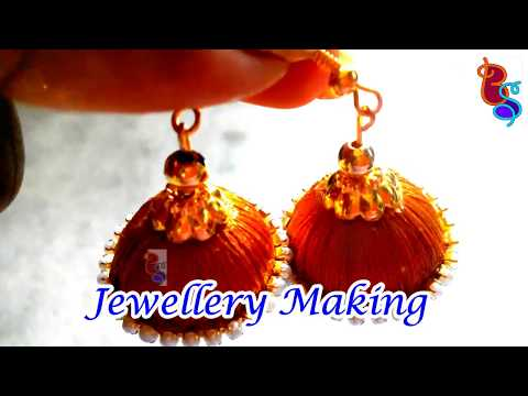Silk Thread Jewellery making at home | DIY | Jewellery making