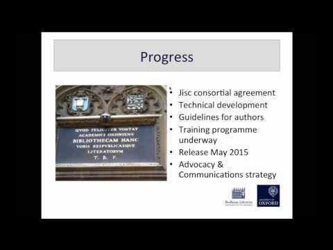 ORCID at Oxford University by Sally Rumsey