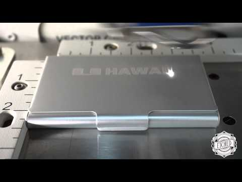 Etched: Laser Engraved Muji Business Card Holders For HawaiiShoots