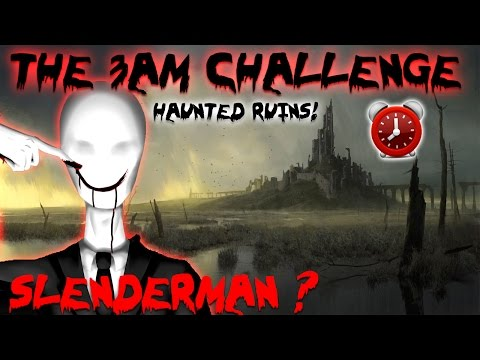 THE 3 AM CHALLENGE // HAUNTED RUINS // OVERNIGHT CHALLENGE R