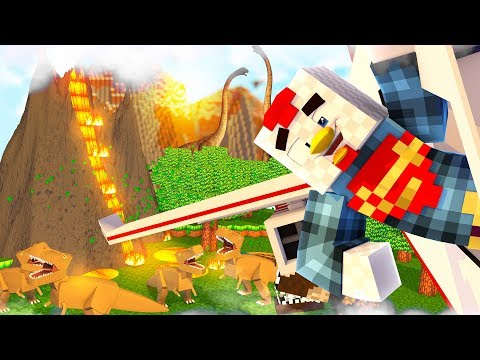 Minecraft | FLYING OVER DINOSAURS! (Jurassic World Adventure) #21