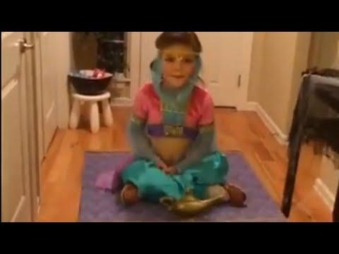 "Girl's genie Halloween costume actually takes ""flight"""