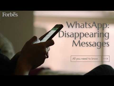 WhatsApp's New Disappearing Messages