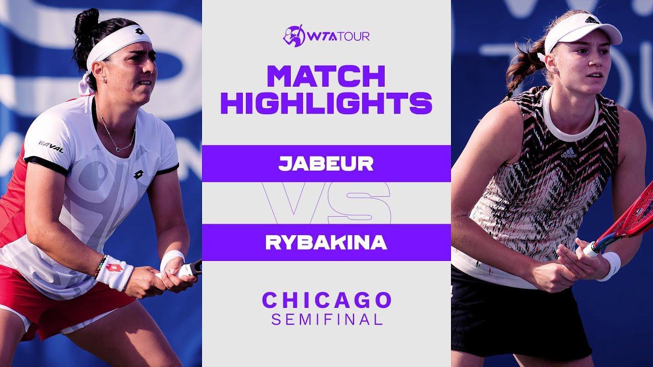 Ons Jabeur vs. Elena Rybakina | 2021 Chicago Semifinal | WTA Match Highlights