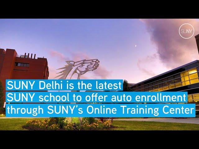 SUNY Delhi Joins SUNY's Free Online Training Center