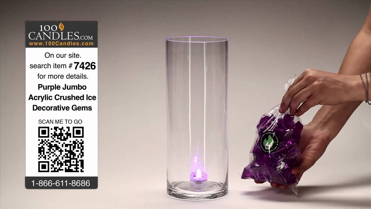DIY Purple Lighted Centerpieces for Weddings and Events - YouTube