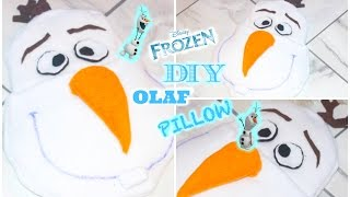 DIY Room Decor Easy Olaf Pillow (No Sew) • heartcindy Thumbnail