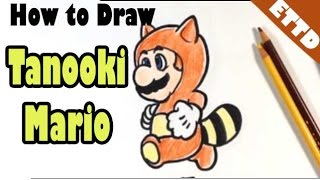 How to Draw Tanooki Mario - Easy Things To Draw