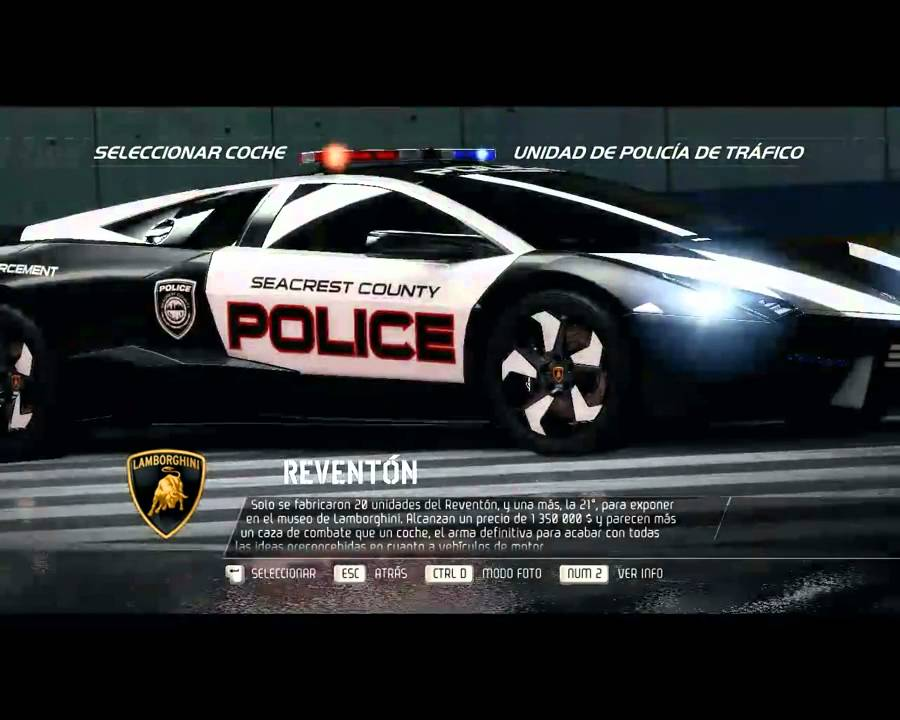 need for speed hot pursuit lamborghini reventon especificaciones youtube. Black Bedroom Furniture Sets. Home Design Ideas