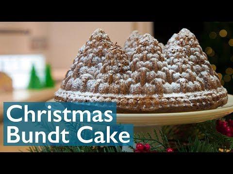 Christmas Bundt Cake - Snowy Forest!