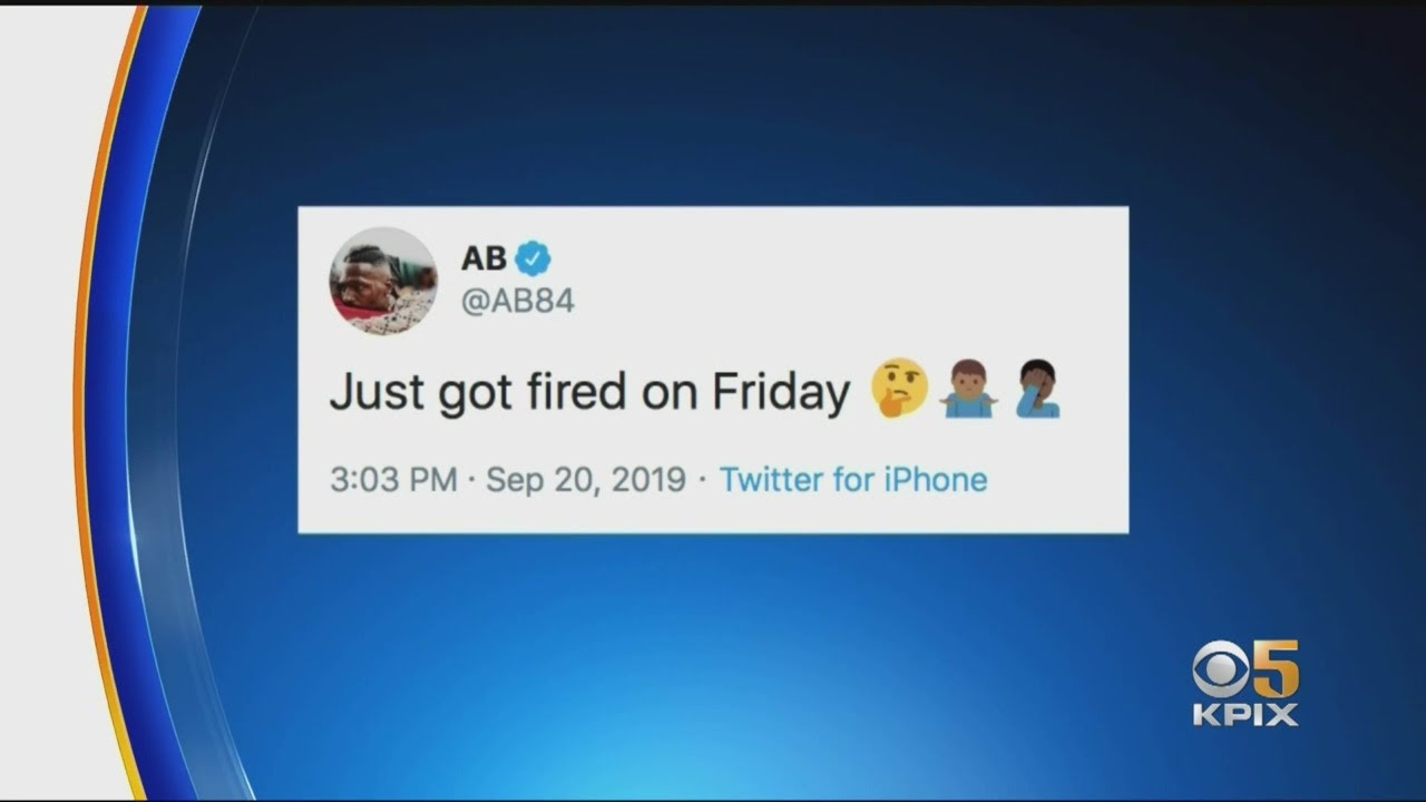 Former Raider Fired Patriot Antonio Brown Tweets He S Done With Nfl