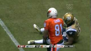 CFL Recap: Winnipeg 16, BC 33 - June 29, 2012