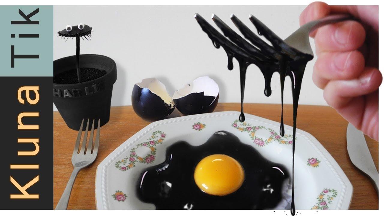 Download Eating a BLACK EGG!! Kluna Tik Dinner | ASMR eating sounds no talk