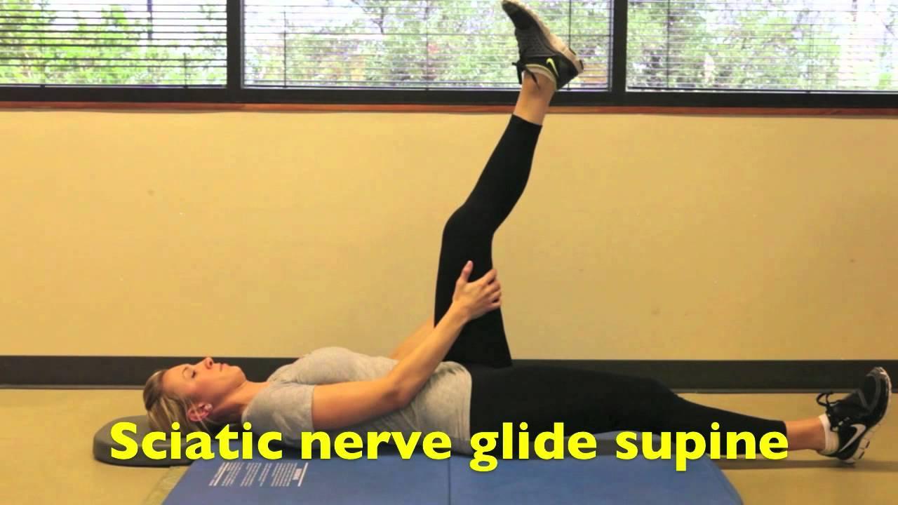 Sciatic Nerve Glide Supine - YouTube