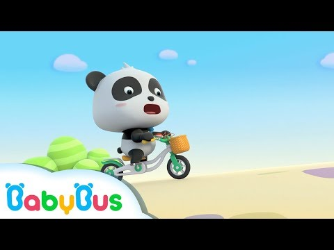 Baby Panda Learns to Ride a Bicycle | Car Song & Animation Collection | BabyBus