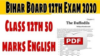 Bihar Board 50 marks English important Question Answer for 2020 examination