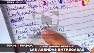Caso Nadine Heredia: las agendas entregadas (1/2)