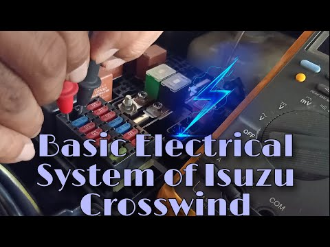How to check grounded and short circuit of Isuzu Crosswind