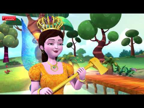 The Truthful Woodcutter   Hindi Stories for Kids   Infobells