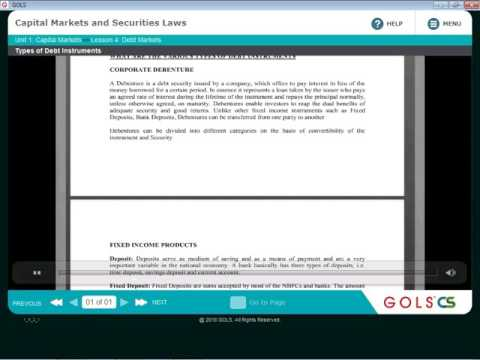 DEBT MARKET CH 4/ CAPITAL MARKET AND SECURITIES LAW/ CS EXEC