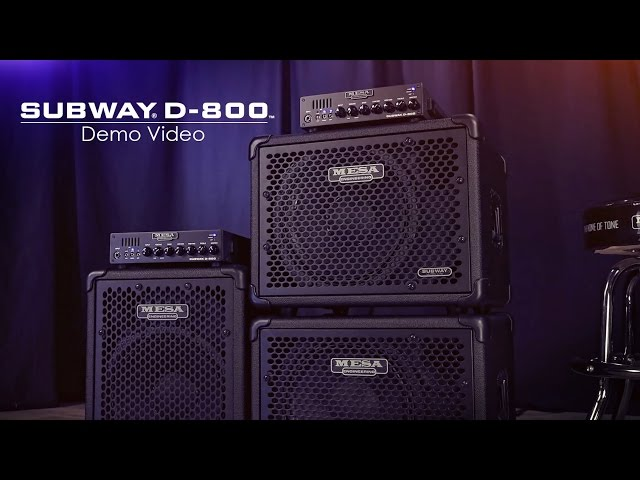 MESA/Boogie Subway® D-800™ Official Demo Video
